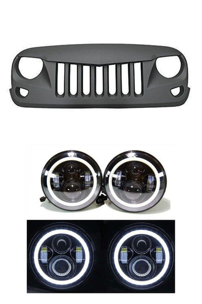 TITAN - Eagle Eye Grille and Halo LED Headlights