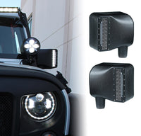Smoke Lens LED Side Mirror with White Spot Lights and Amber Turn Signal Lights For Jeep Wrangler (JK-JKU 2007-2018)