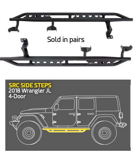 Jeep Wrangler JLU Side Steps (4 Door)