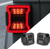 Jeep Wrangler Smoked LED Tail Lights for JL-JLU (2018+)