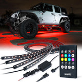 Xprite 8 Color RGB LED Underbody Under Glow Kit For Jeep Wrangler (TJ-JK-JL 1997-2018+)
