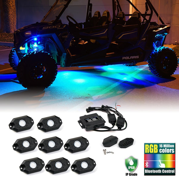 Jeep Wrangler 8x Bluetooth LED Rock Lights