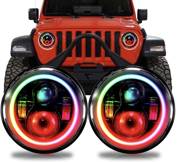 Jeep JT Gladiator RGB Bluetooth Halo LED Headlights (2020+)