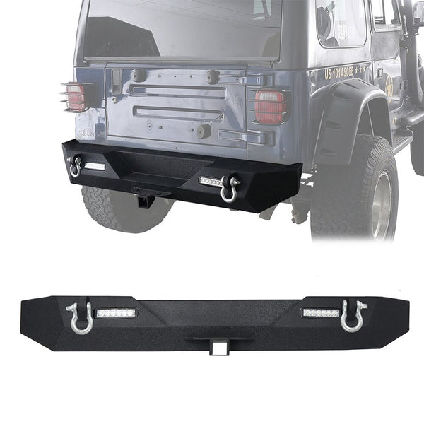 Opar Rock Crawler Blade Rear Bumper For Jeep Wrangler (TJ-LJ 1997-2006)