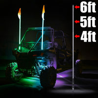 Xprite LED Buggy Flag Pole Whip Lights