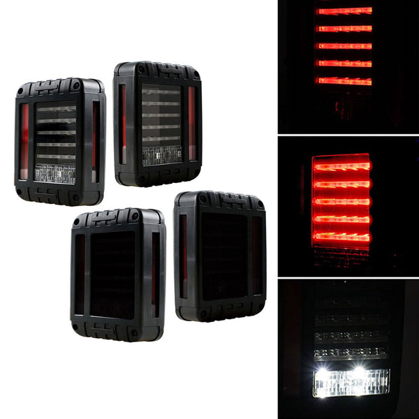 Xprite Defender Series LED Tail Lights For Jeep Wrangler (JK-JKU 2007-2018)