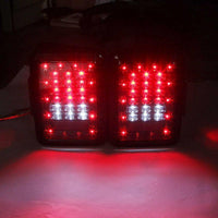 Jeep Wrangler Clear LED DOT Tail Lights for JK-JKU (2007-2018)
