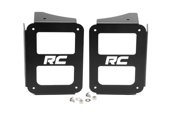 Rough Country Taillight Covers For Jeep Wrangler (JK-JKU 2007-2018)