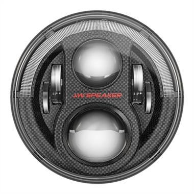 "JW Speaker 8700 Evolution J2 Series Dual Burn 7"" LED Headlights (Carbon Fiber Bezels) for JK-JKU (2007-2018)"
