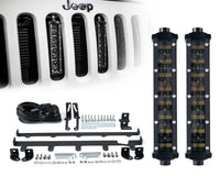 "Xprite 4PC 8"" Double Row Philips LED Grille Light Kit For Jeep Wrangler (JK-JKU 2007-2018)"