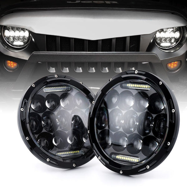 Jeep Wrangler JK & JKU Honeycomb LED Headlights (1997-2018+)