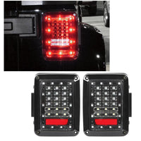 Jeep Wrangler Smoked DOT LED Tail Lights for JK-JKU (2007-2018)