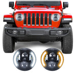 Jeep Wrangler JL & JLU Angel Eye LED Headlights (2018+)