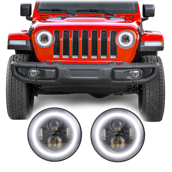 Jeep Wrangler JL & JLU Halo LED Headlights (2018+)
