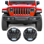 Jeep Wrangler JL & JLU Honeycomb LED Headlights (2018+)