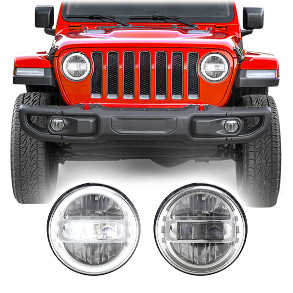 Jeep Wrangler JL & JLU LED Conversion Halo Headlights (2018+)
