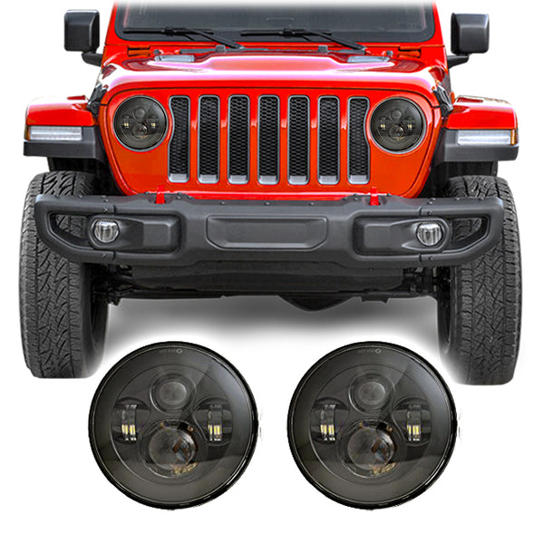 "Jeep Wrangler JL & JLU LED Pro 7"" Headlights (2018+)"