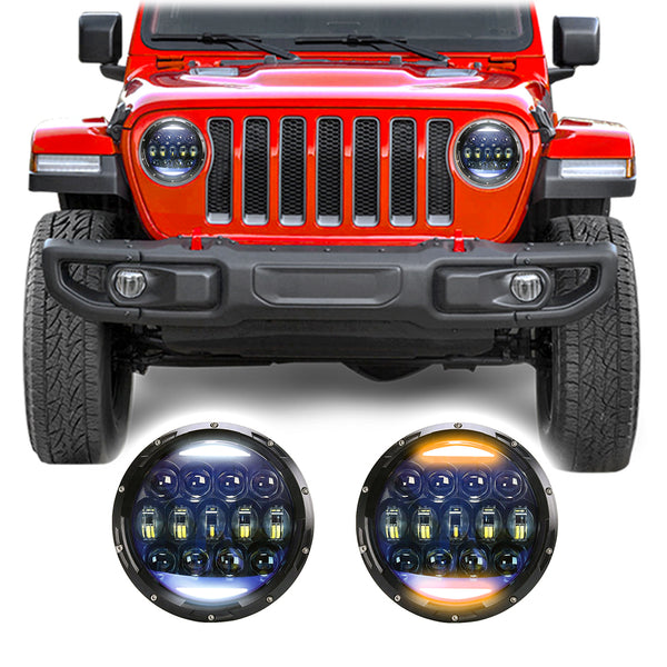 Jeep Wrangler JL & JLU Super Nova LED Headlights (2018+)