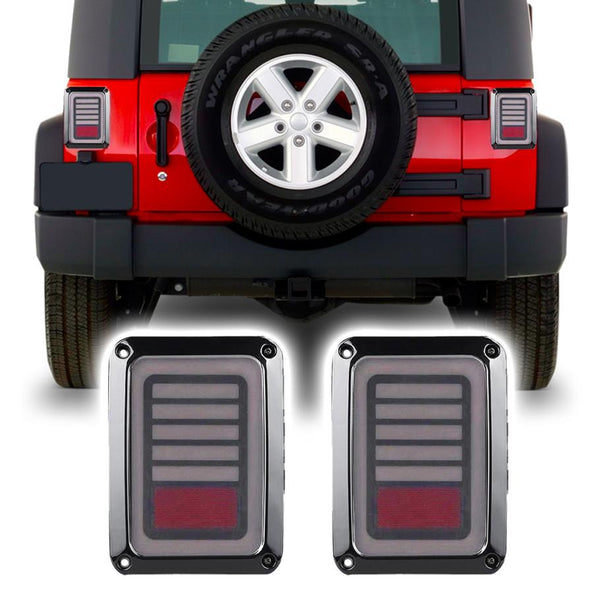 Jeep Wrangler JK & JKU Laser LED Tail Lights (2007-2018)
