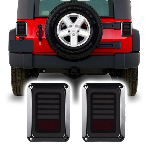 Jeep Wrangler JK & JKU Laser Smoked LED Tail Lights (2007-2018)