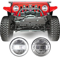 Jeep Wrangler JK & JKU LED Conversion Halo Headlights (2007-2018)