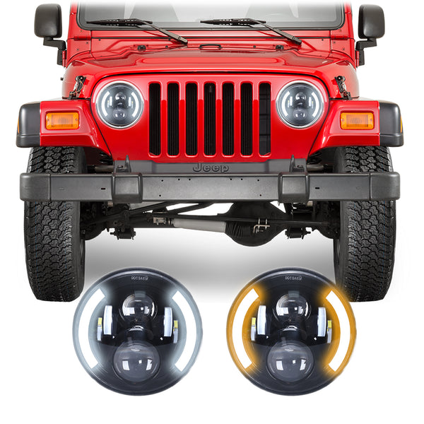 Jeep Wrangler TJ & LJ Angel Eye LED Headlights (1997-2006)