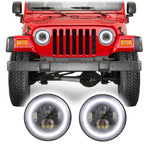 Jeep Wrangler TJ & LJ Halo LED Headlights (1997-2006)