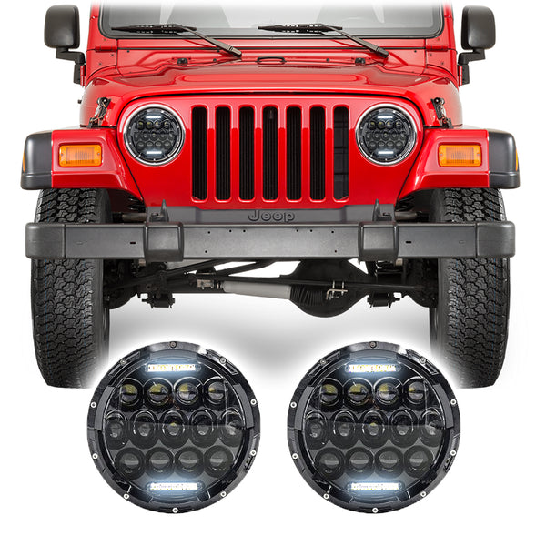 Jeep Wrangler TJ & LJ Honeycomb LED Headlights (1997-2006)