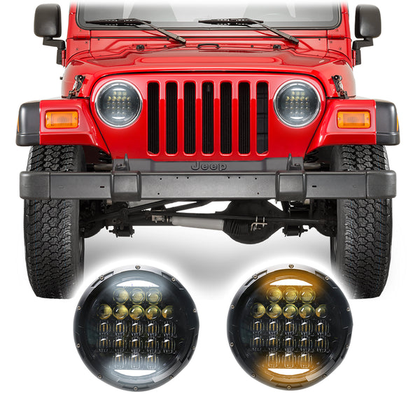 Jeep Wrangler TJ & LJ Honeycomb V2 LED Headlights (1997-2006)