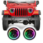 Jeep Wrangler TJ & LJ Color Changing RGB LED Headlights (1997-2006)
