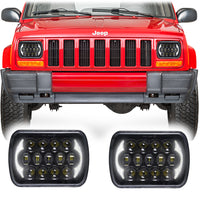 Jeep Cherokee XJ Honeycomb LED Headlights (1984-2001)