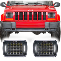 Jeep Cherokee XJ Honeycomb V2 LED Headlights (1984-2001)