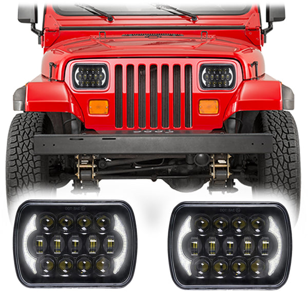 Jeep Wrangler YJ Honeycomb LED Headlights (1986-1995)