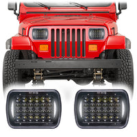 Jeep Wrangler YJ Honeycomb V2 LED Headlights (1986-1995)