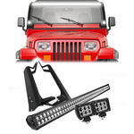 Jeep Wrangler 52 Inch Light Bar, Mounts, and LED Pods (1986-1995)