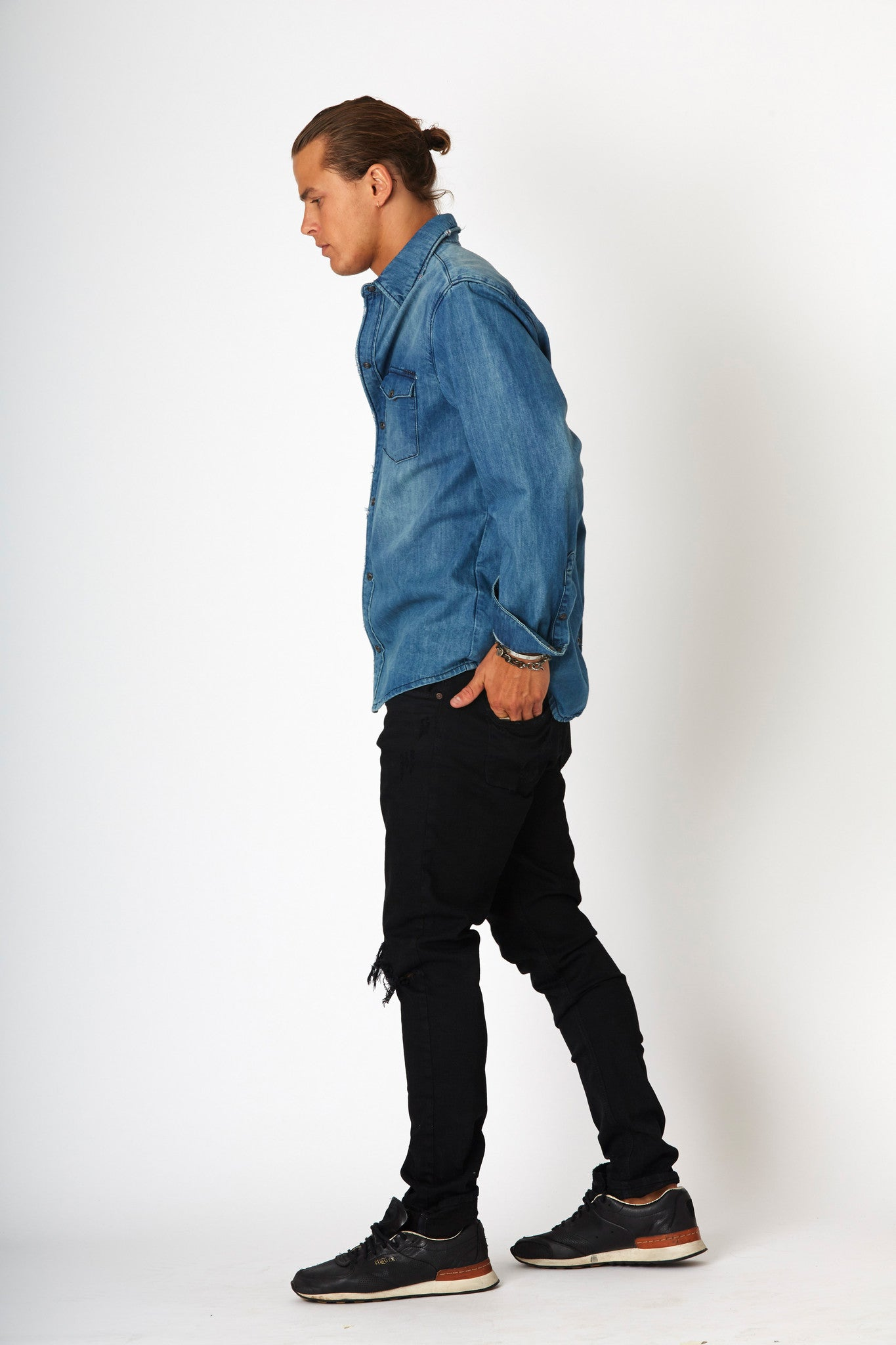 #2A18 Stretch Slim Jet Black - denimcolab