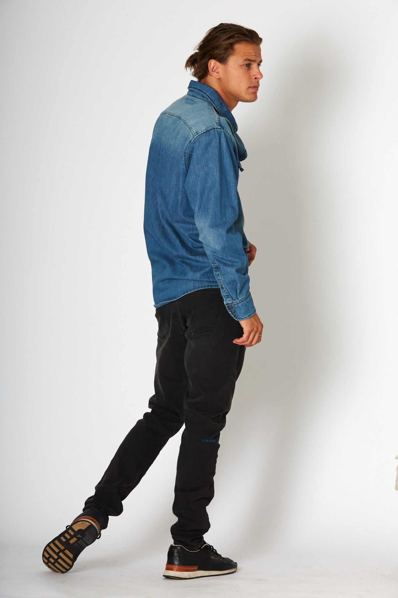 #2A18 Stretch Slim Phase Black Patch - denimcolab