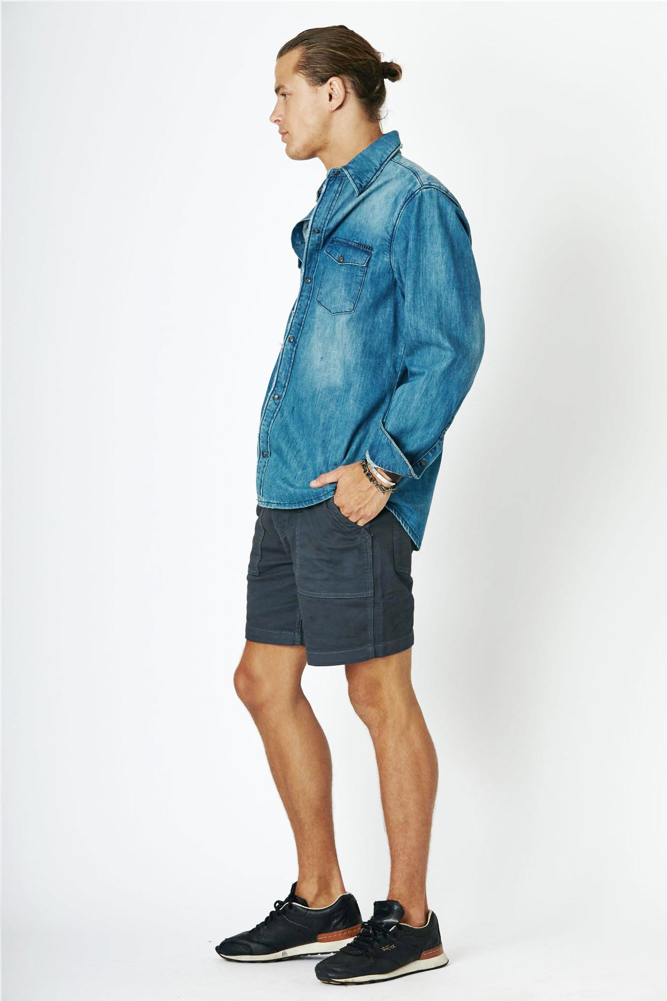 #2F10 Denim Pipe Shirt Blue Thames - denimcolab