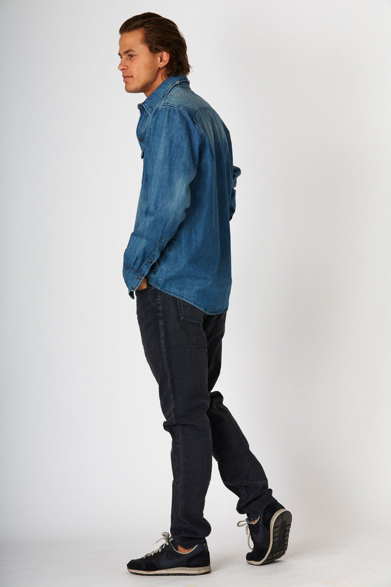 #2F11 Denim Shirt Blue Thames - denimcolab