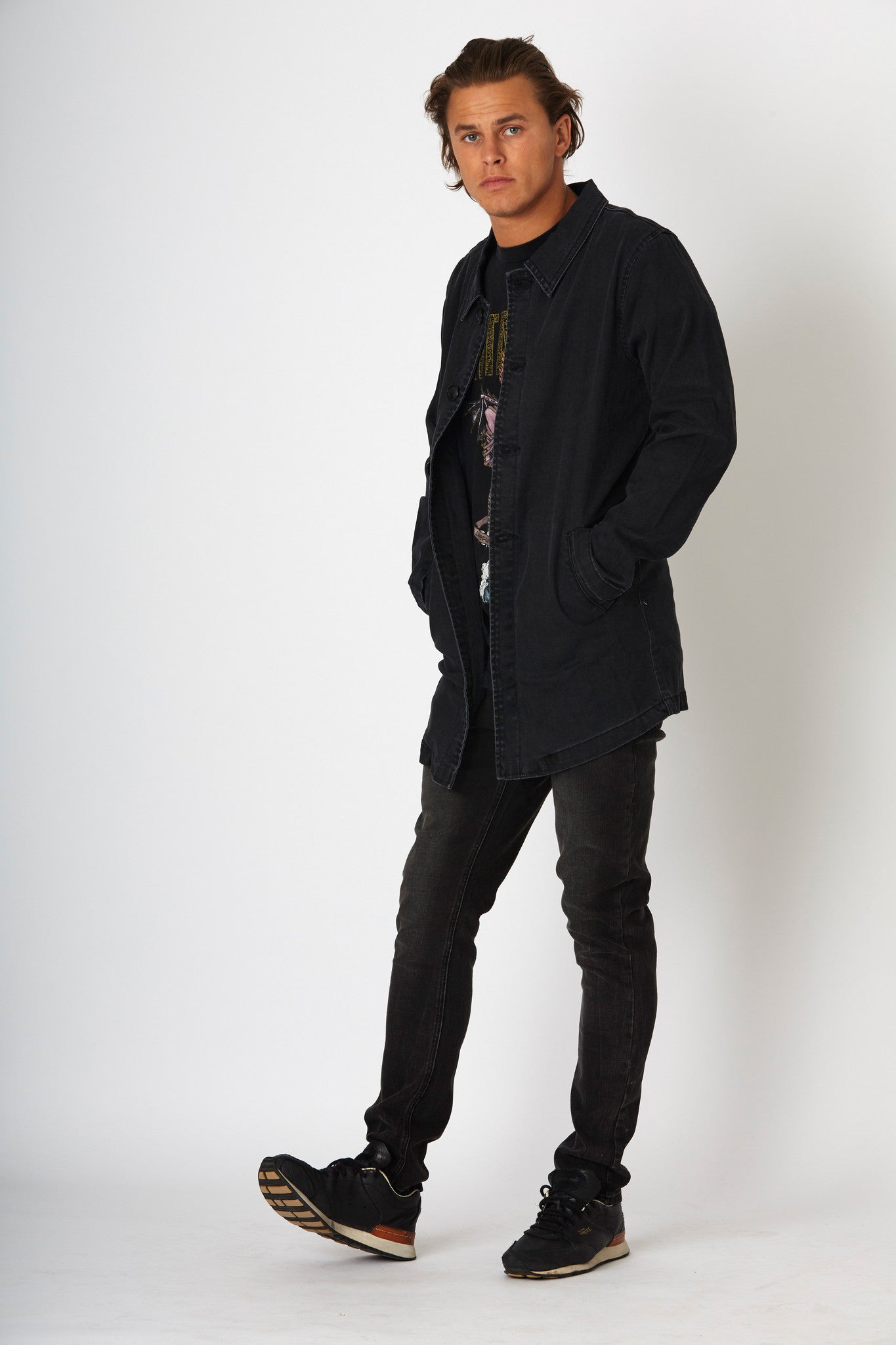 #2G19 Slim Jacket Orbit Black - denimcolab
