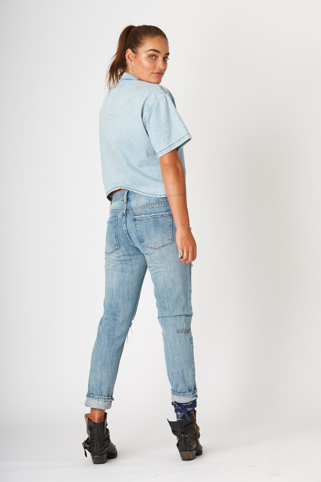 #3A10 Boyfriend Pebble Blue - SALE - - denimcolab