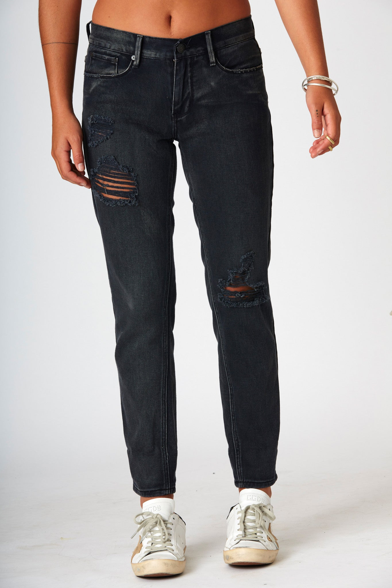 #3A10 Boyfriend Raven Black - SALE - - denimcolab
