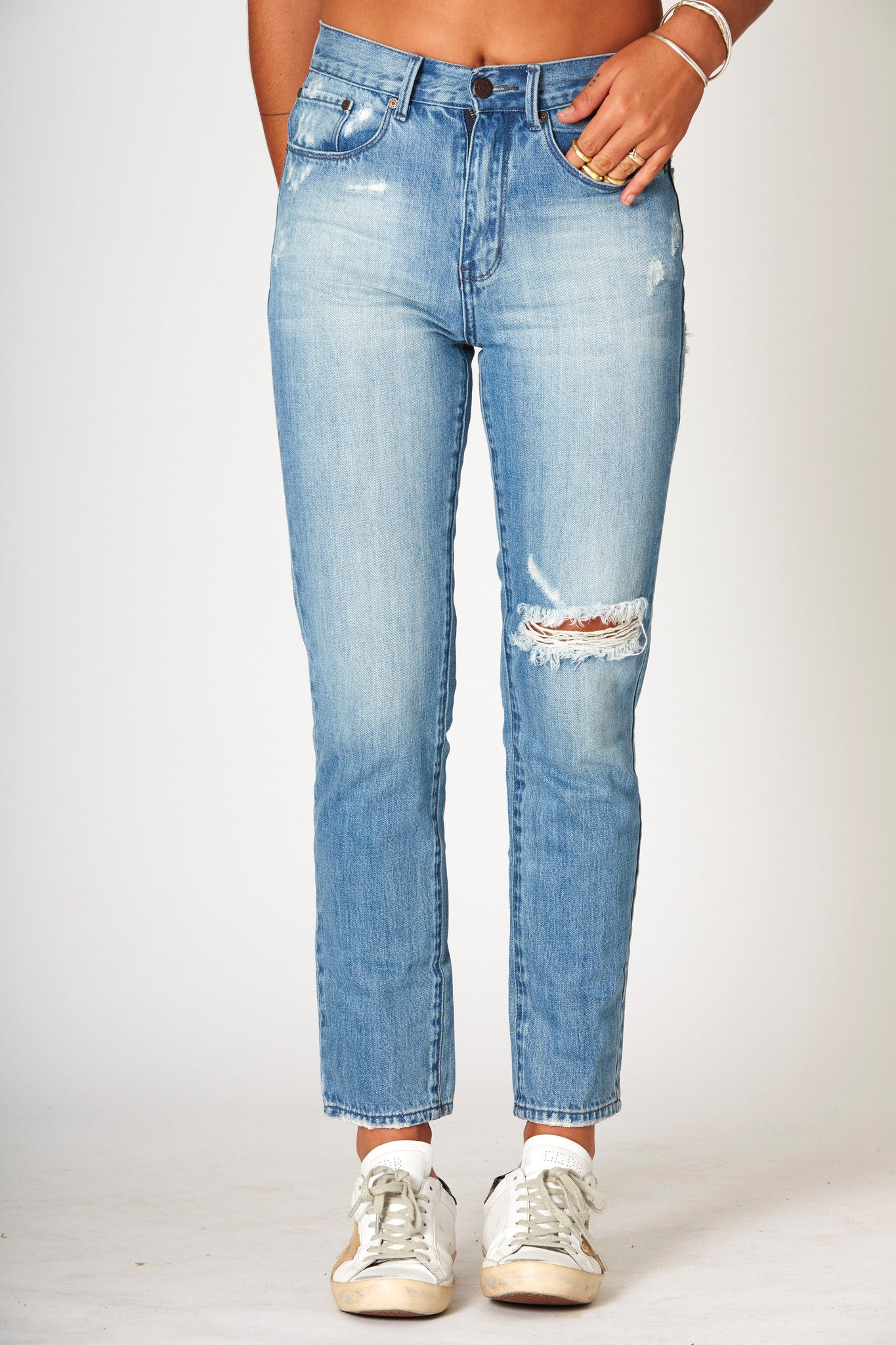 #3A33 Mid Slim Ankle Moon Blue - denimcolab