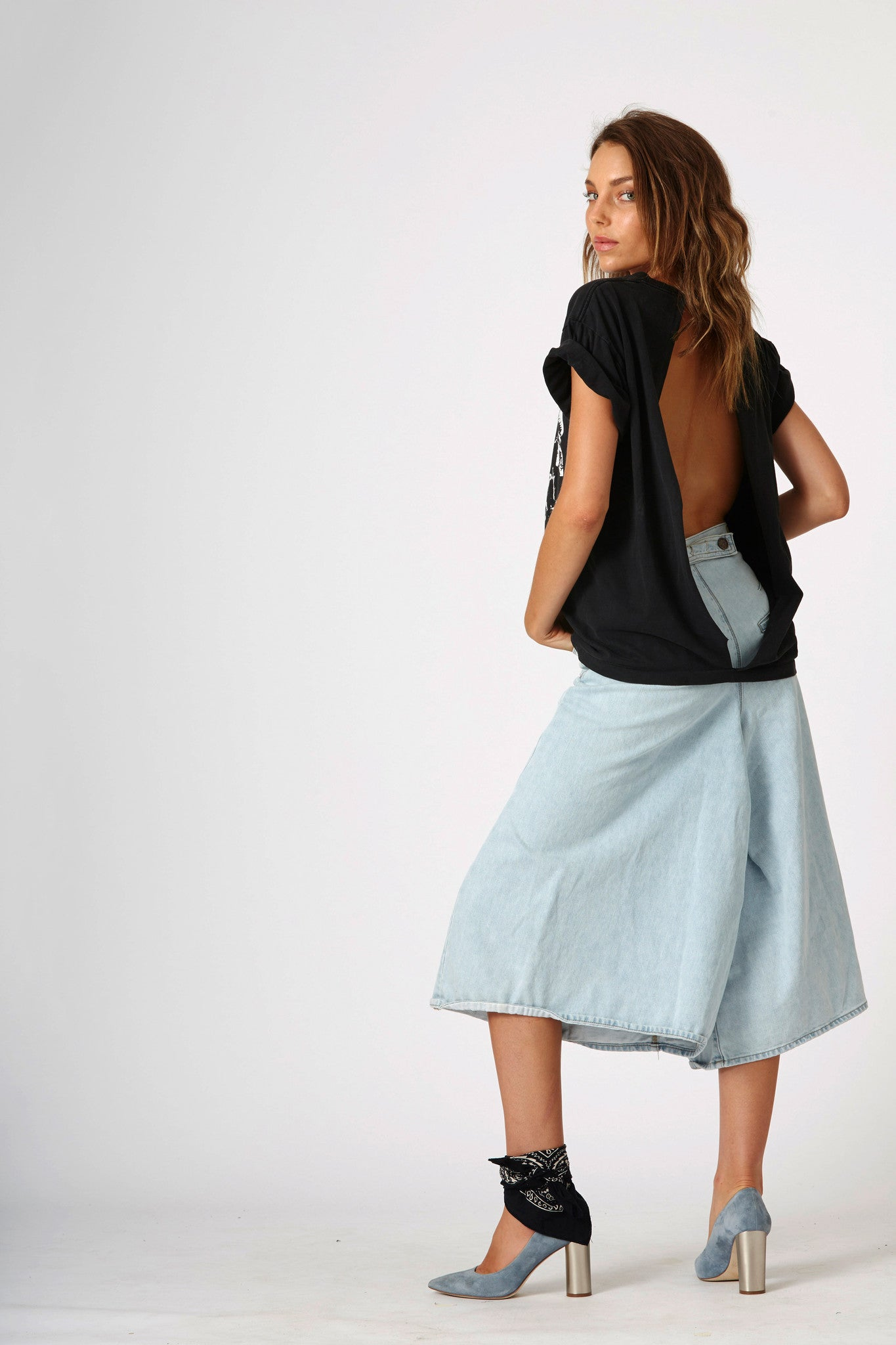 #3B10 Four Mile Culotte Antarctic Blue - denimcolab