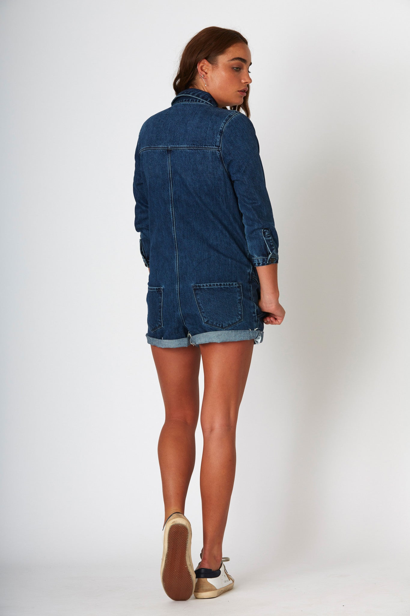 #3C10 Yamba Playsuit Blue Coal - denimcolab