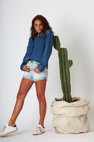 #3D16 Relaxed Short Cloudy Blue - denimcolab