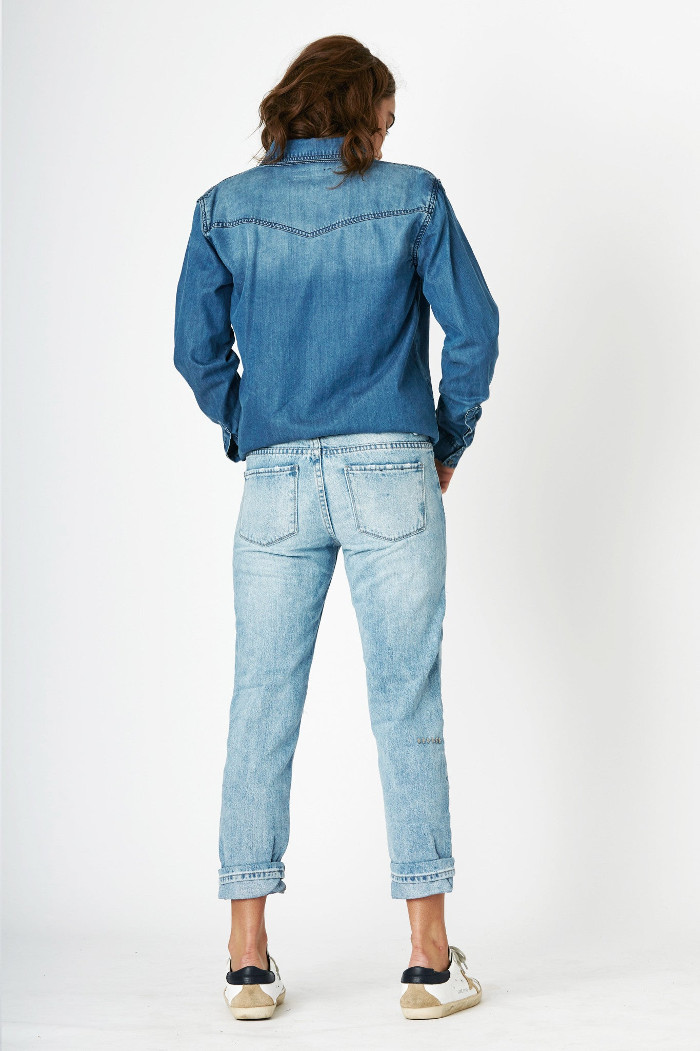 #3F13 Relaxed Shirt Galaxy Blue - SALE - - denimcolab