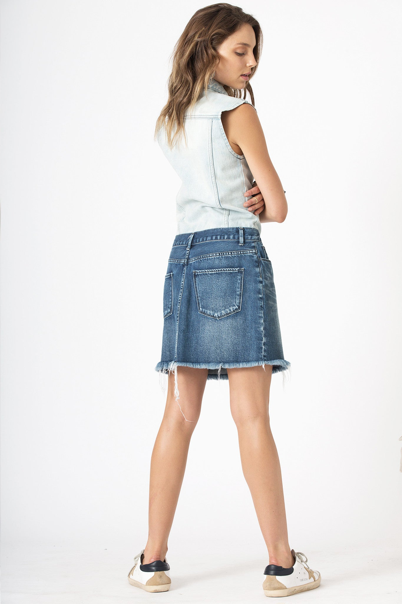 #3H12 Dress Cloudy Penny Blue - denimcolab