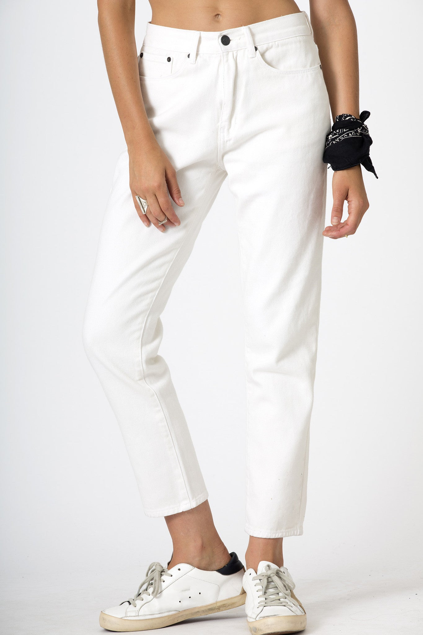 #3A33 Mid Slim Ankle Eclipse White - denimcolab