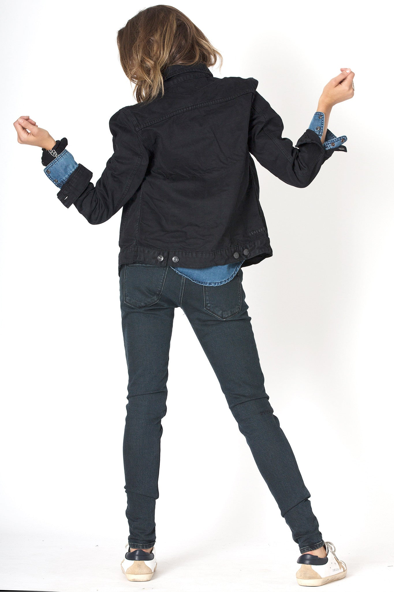 #1G12F Unisex Jacket Wash Black - denimcolab